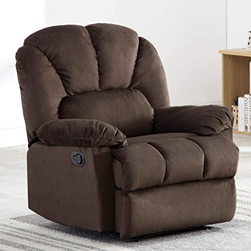Bonzy Home Velvet Recliner Manual Recliner Chair