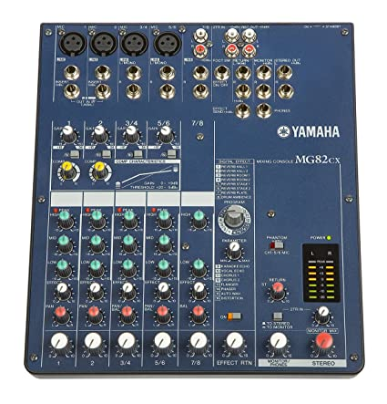 1c99e289e31 Amazon.com  Yamaha MG82CX 8 Input Stereo Mixer with Digital Effects ...
