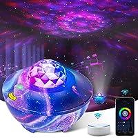 LED Star Projector Night Light Galaxy Remote Control Ocean Wave Sleep Sound Sensor Changing Music by USB Bluetooth…