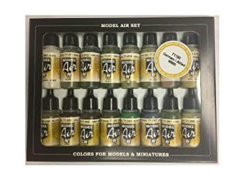 Vallejo Model Air USAAF Aircraft Acrylic Paint Set for Air Brush ...