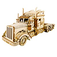 Deals on ROBOTIME 3D Wooden Puzzle for Adults Vehicle Building Kits