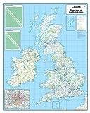 British Isles Road Wall Map: Laminated