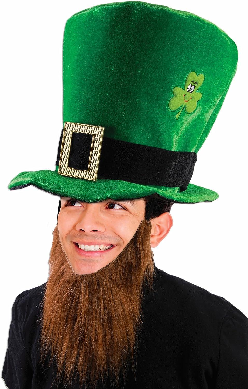 One Size Green Forum Novelties 75941 Saint Patricks Day Leprechaun Top Hat with Red Bead