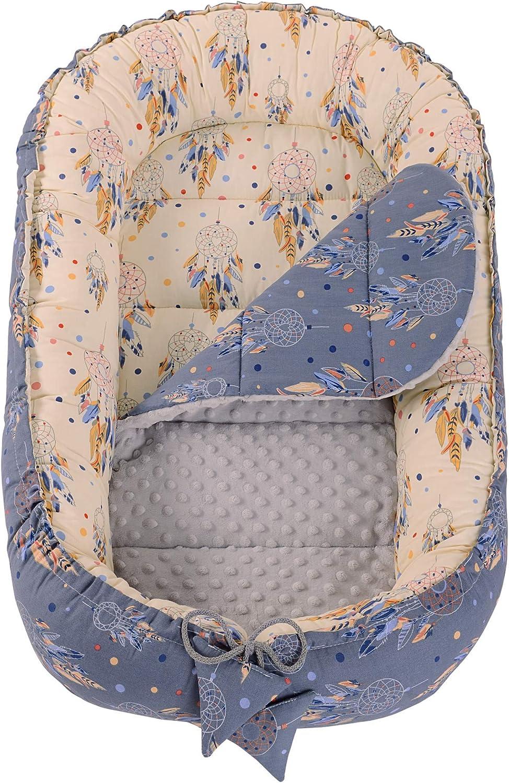 R/éducteur de Lit B/éb/é Cocon 90x50cm nouveau-n/é 100/% Coton Baby nest Medi Partners amovible insert couffin de voyage portable