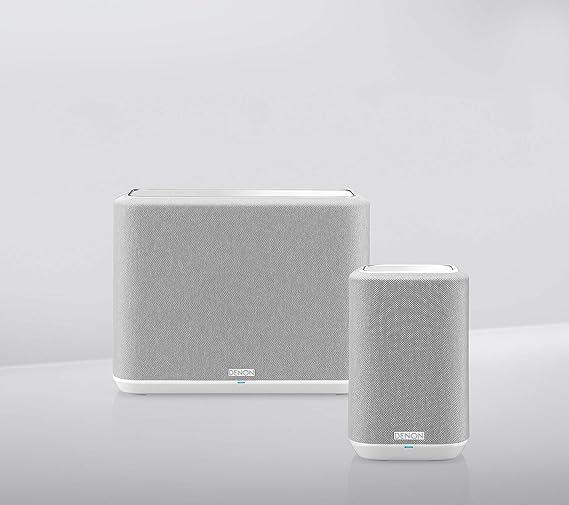Denon Home Multiroom Lautsprecher Set Home Paket 1 Hifi Lautsprecher Mit Heos Built In Wlan Bluetooth Airplay 2 Bestehend Aus 1x Denon Home 150 Und 1x Denon Home 250 Weiß Audio Hifi