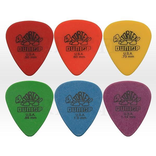 Tortex Standard, 418 - Púas para guitarra y bajo, 6 unidades ...