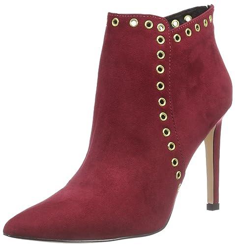 La Strada Bordeaux Rote Suède-Look Stiefeletten - Botas de Material  sintético Mujer fdc0cac47c10