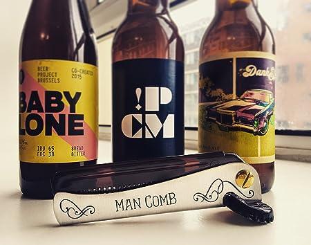 Man Comb. La Mejor Herramienta para tu Cabello, tu Barba y tu Cerveza.: Amazon.es: Salud y cuidado personal
