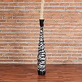 Leewadee Grande Vaso da Terra 75 cm, Legno di Mango, Nero