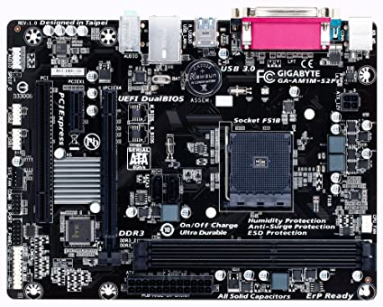 Gigabyte GA-AM1M-S2P - Placa Base (DIMM, DDR3-SDRAM, AMD ...