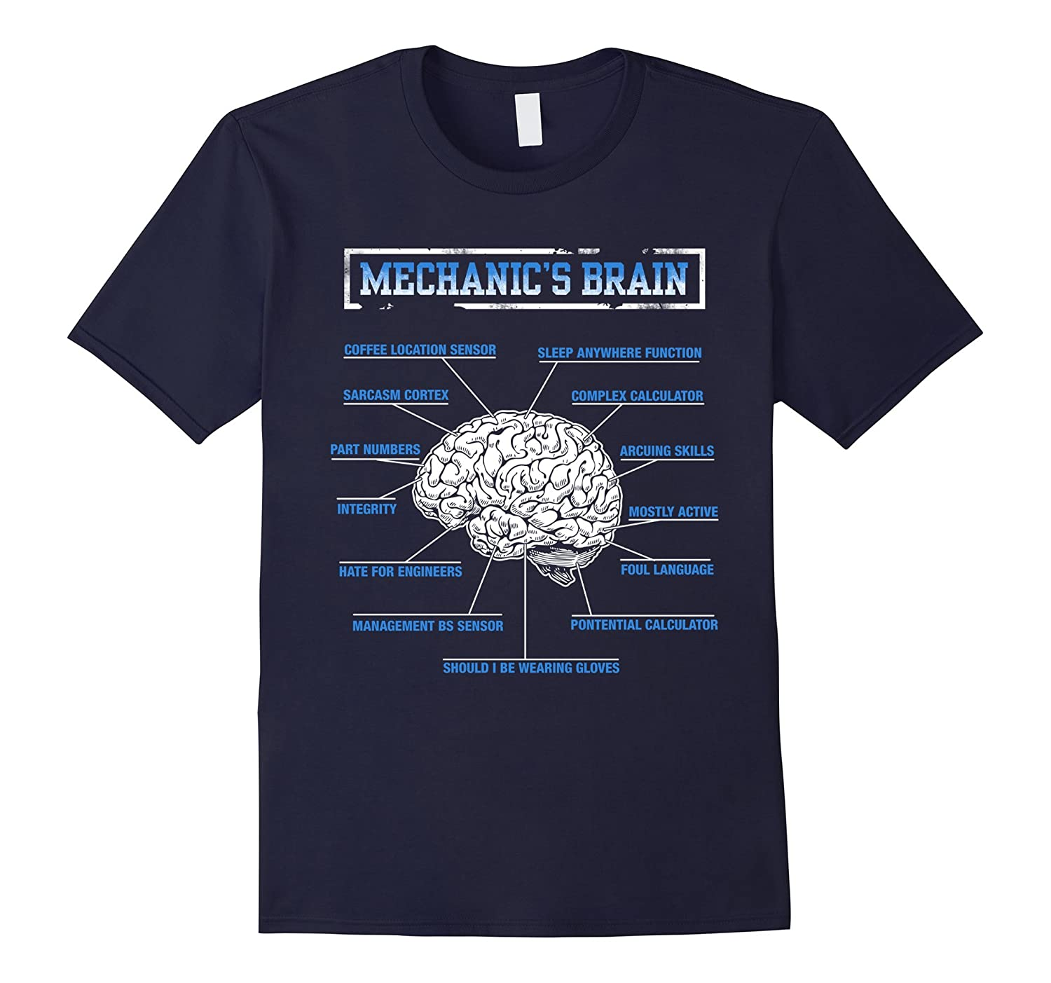 Mechanics Brain Funny T-Shirt For Mechanic-TD