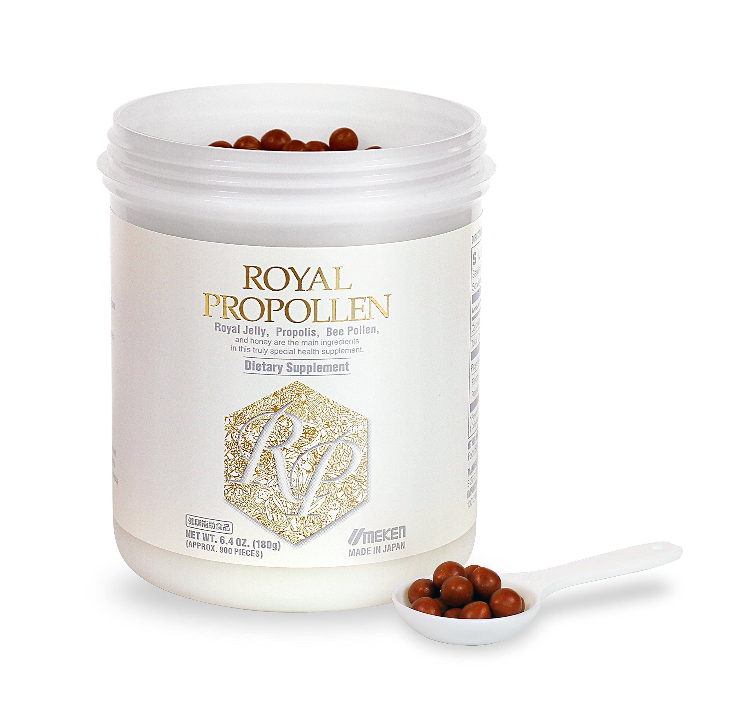 Umeken Royal Propollen- Contains Royal Jelly (10H2DA), Green Propolis, Bee Pollen derived from honey. Helps Boost Energy and Immune System. About a 2 month supply. Made in Japan.