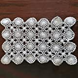 Merryfeel Handmade Crochet Lace Placemats,100% Cotton Crochet Placemats White,Packed in Gift Box- Set of 4-12x17 Inch