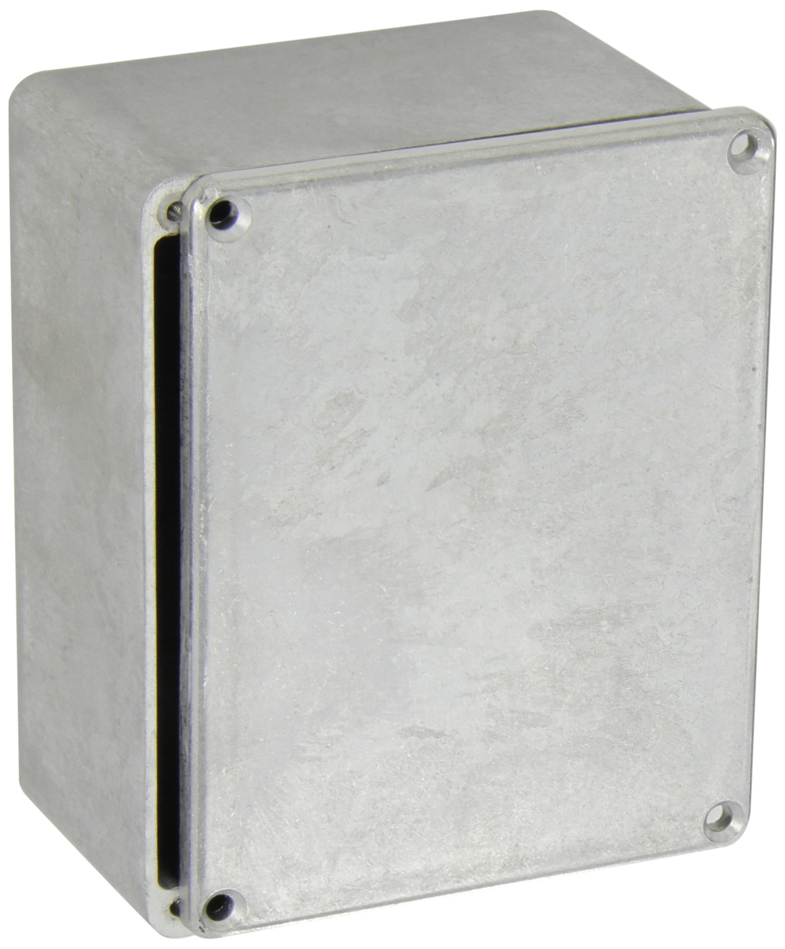 BUD Industries CN-5705 Die Cast Aluminum Enclosure, 4-17/32'' Length x 3-9/16'' Width x 2-7/32'' Height, Natural Finish