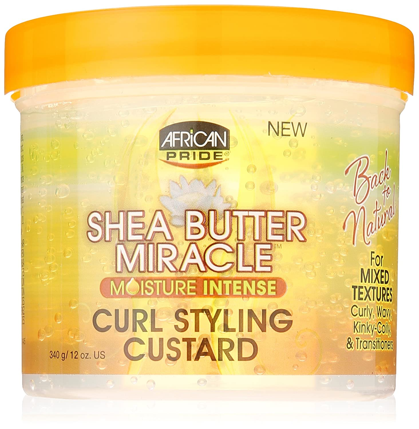 African Pride Shea Butter Miracle Curl Styling Custard 340 g/12 oz 491120