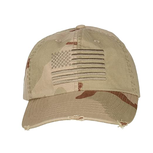 DPC Outdoor Design Men s Distressed Camouflage Baseball Cap with ... 13b9e20bf48