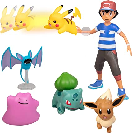 Amazon.com: Pokémon Juego de figuras de batalla con acción ...