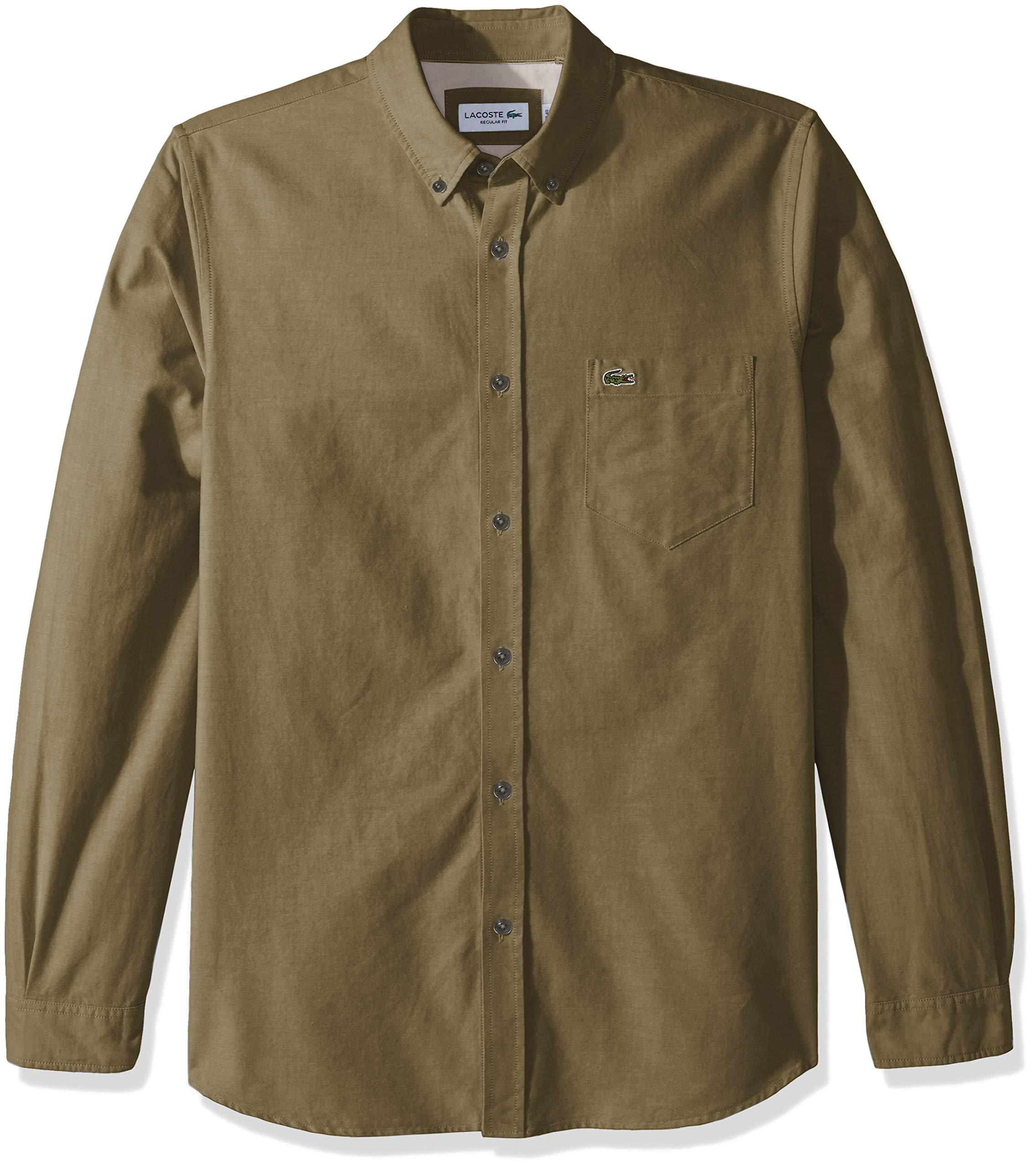 35834e6f2 Galleon - Lacoste Men s Long Sleeve Oxford Button Down Collar Regular Fit  Woven Shirt