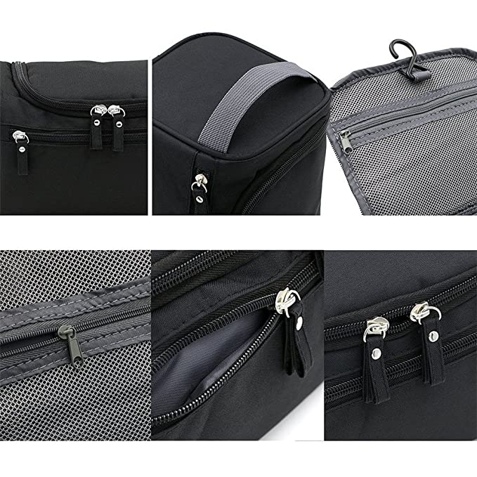 a0f78519943d Amazon.com: Yiuswoy Portable Hanging Travel Toiletry Bag with Handle ...