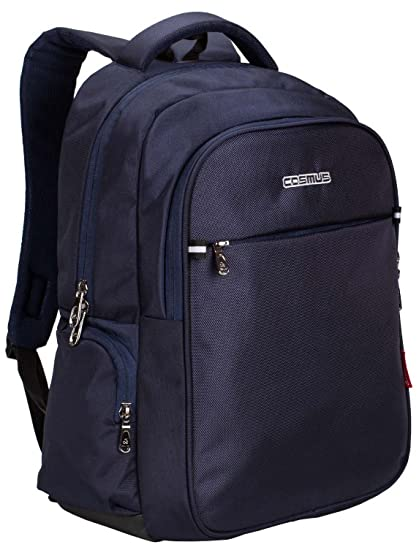 Cosmus Atomic Navy Blue Polyester Waterproof Laptop Backpack  Amazon.in   Bags 9f5184d6fd02e