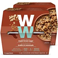 WW Maple Brown Sugar Instant Oatmeal - 4 SmartPoints - 2 Boxes (8 Count) - Weight Watchers Reimagined