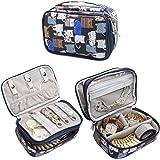 Teamoy Boîte à Bijoux de voyage / boite à bijoux avec de multiples rangements,Chats Bleus