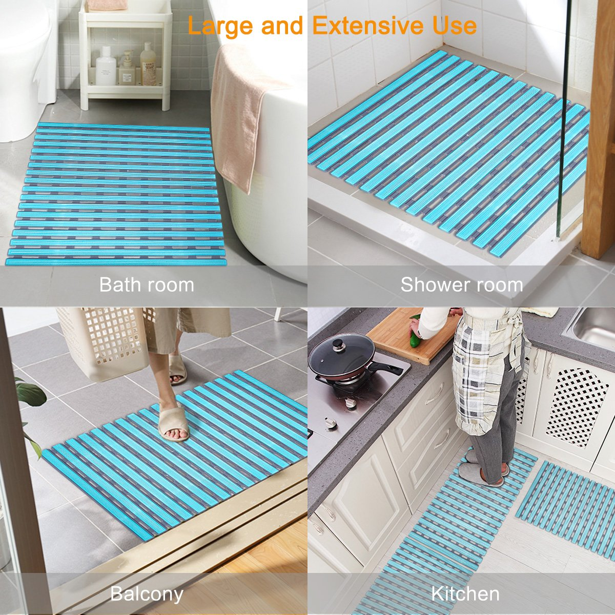 Amazon.com: Global-store Non Slip Bath Mat with Suction Cups ...