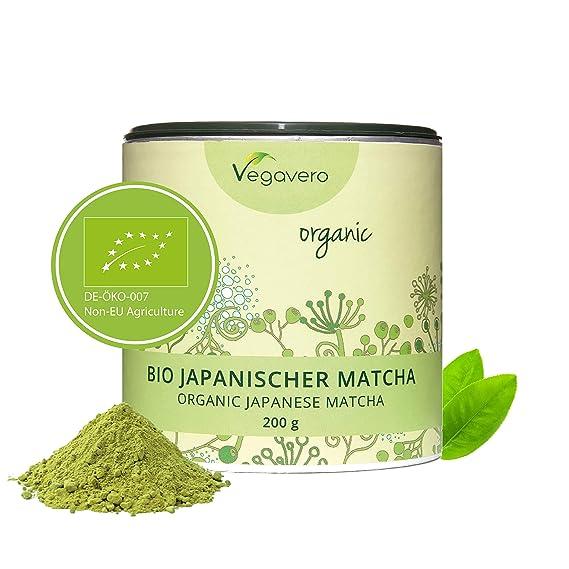 Té Matcha Orgánico Vegavero® ORIGINAL Japonés: de Aichi y Kagoshima | 200g | Rico en L Teanina, Cafeína y Antioxidantes | Energía + Bienestar + ...