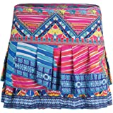 Lucky in Love Boho Chic Pleat Tier Skirt