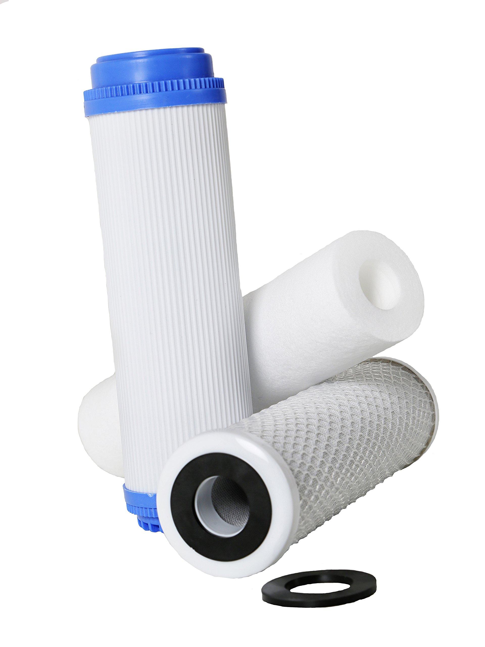 Filtro Ósmosis Inversa 3 etapas, Estándar, Profesional, Garantizado, Compatible con todos los