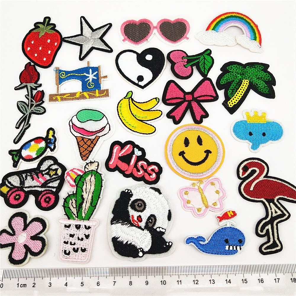 24pcs//lot Assorted Iron-on or Sew-on Embroidered Patch Set Mixed colors Set 14