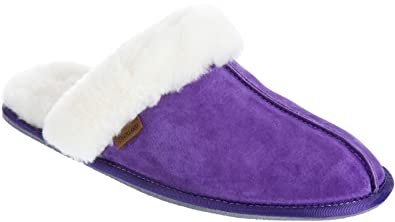 906ab0af2c Women s Classic Shearling-Lined Scuff Slippers Purple