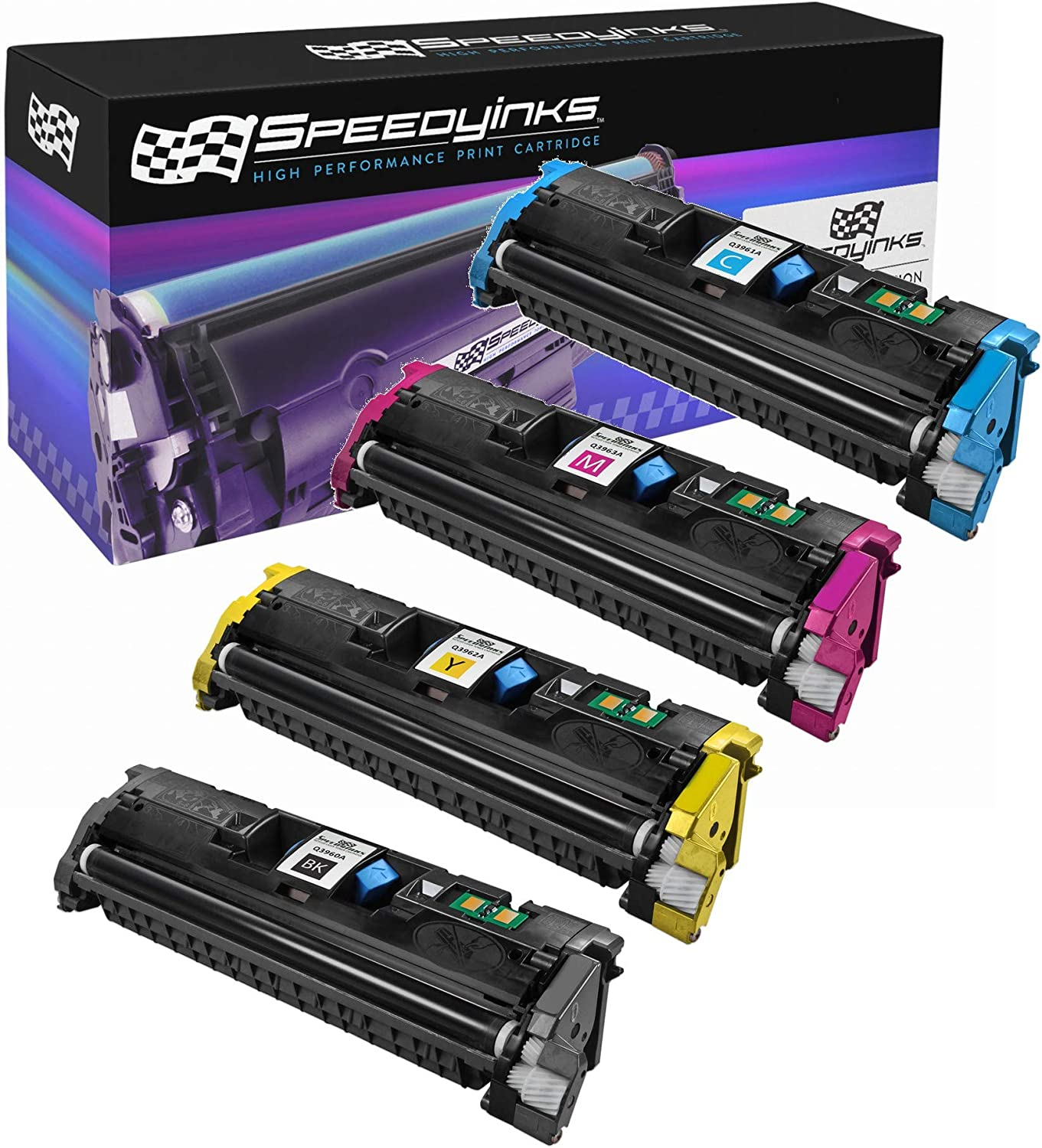Speedy Inks Remanufactured Toner Cartridge Replacement for HP 122A (1 Black, 1 Cyan, 1 Magenta, 1 Yellow, 4-Pack)