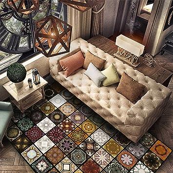 Amazon.de: WJS Bereich Teppich Wohnzimmer Original Vintage exotische ...