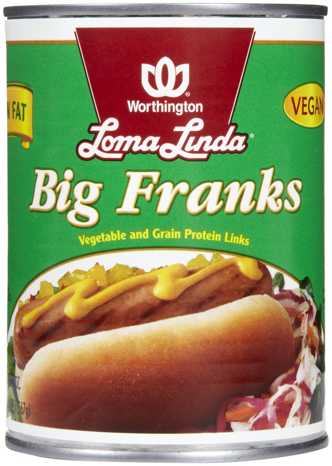 Loma Linda Low Fat Big Franks-20 oz