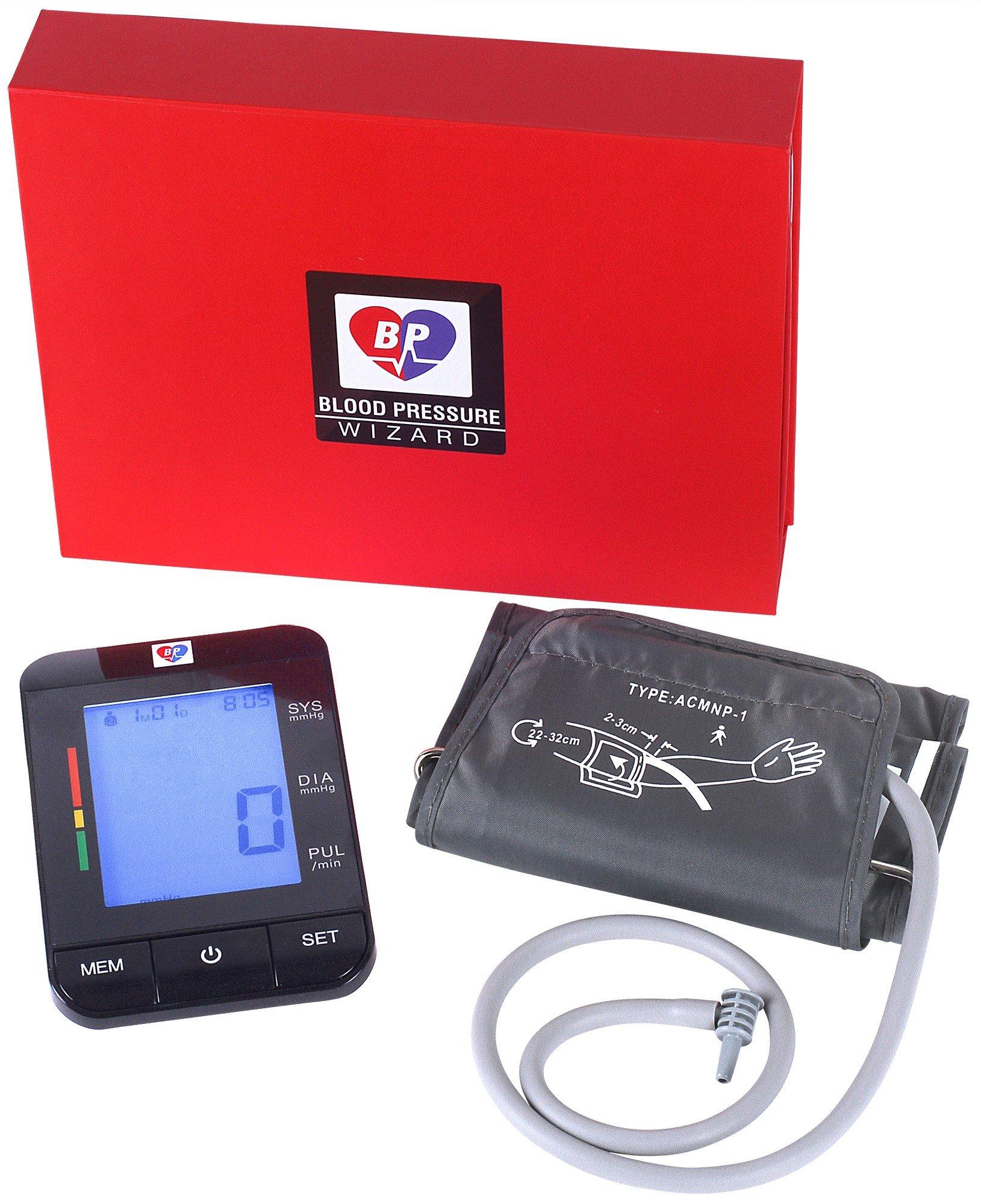 Professional Blood Pressure Monitor Super Bright Digital Display 99.9% Digital Accuracy BP Wizard