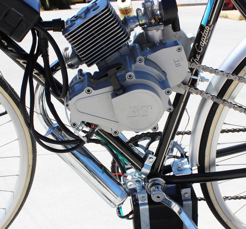 2 Golpe Gasolina Bicicleta Kit de Conversión Eléctrico & Arranque 80cc: Amazon.es: Deportes y aire libre