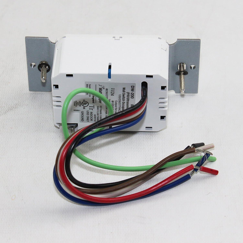 Wattstopper DW-200-W Dual Relay Occupancy Sensor Switch, White ...