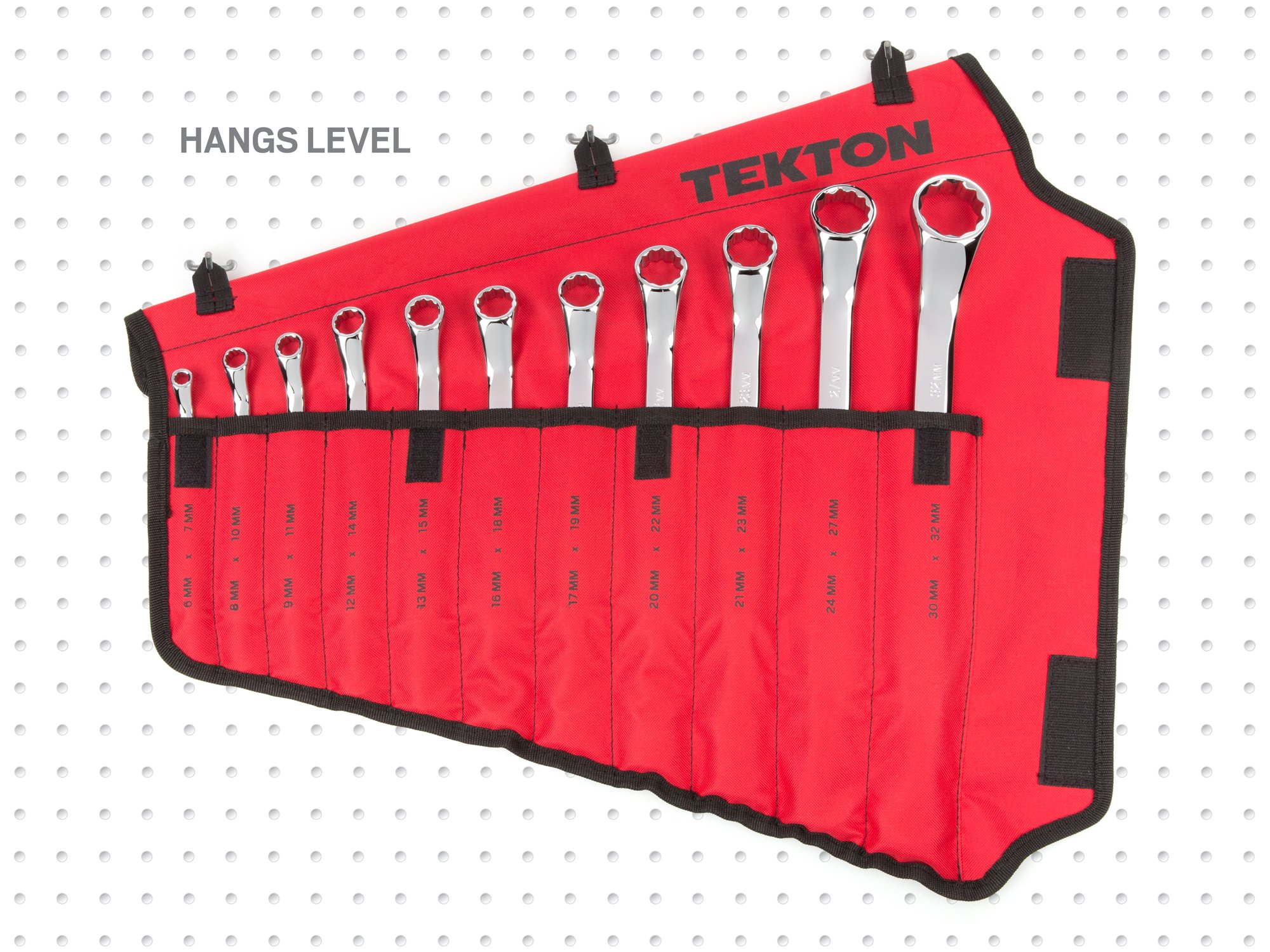 TEKTON 45-Degree Offset Box End Wrench Set with Roll-up Storage Pouch, Metric, 6 mm- 32 mm, 11-Piece | WBE24511 by TEKTON (Image #11)