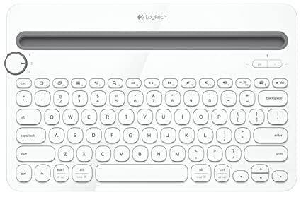 54104b9bedb Logitech K480 Multi Device Bluetooth Keyboard for PC, Smartphone and Tablet  - White