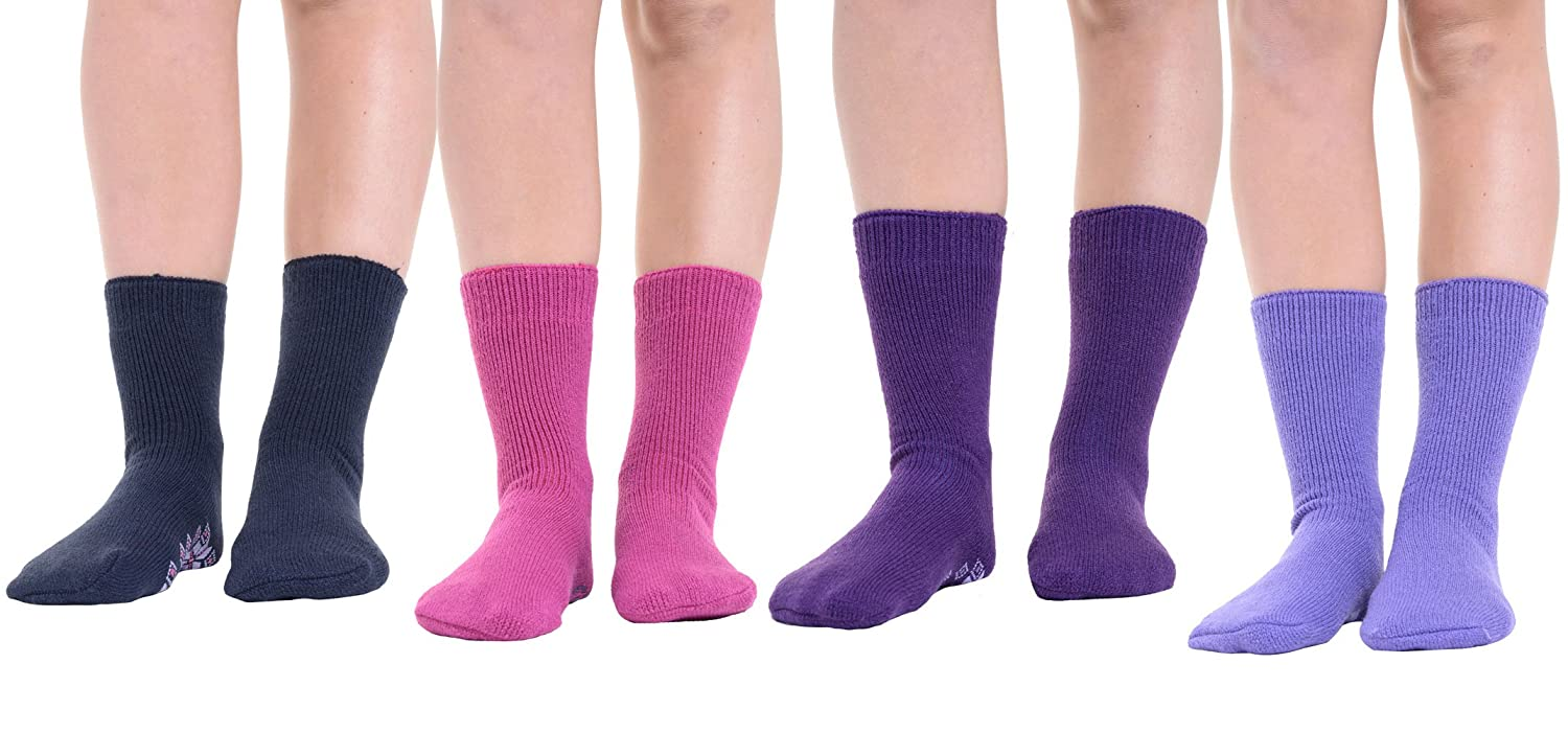 1//3//6 Pairs Of Ladies Women Thermal Socks in Assorted Colors /& Design Size 4-7