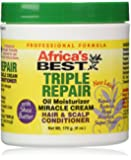 Africa's Best Triple Repair Oil Moisturizer Hair and Scalp Conditioner, 6 Ounce
