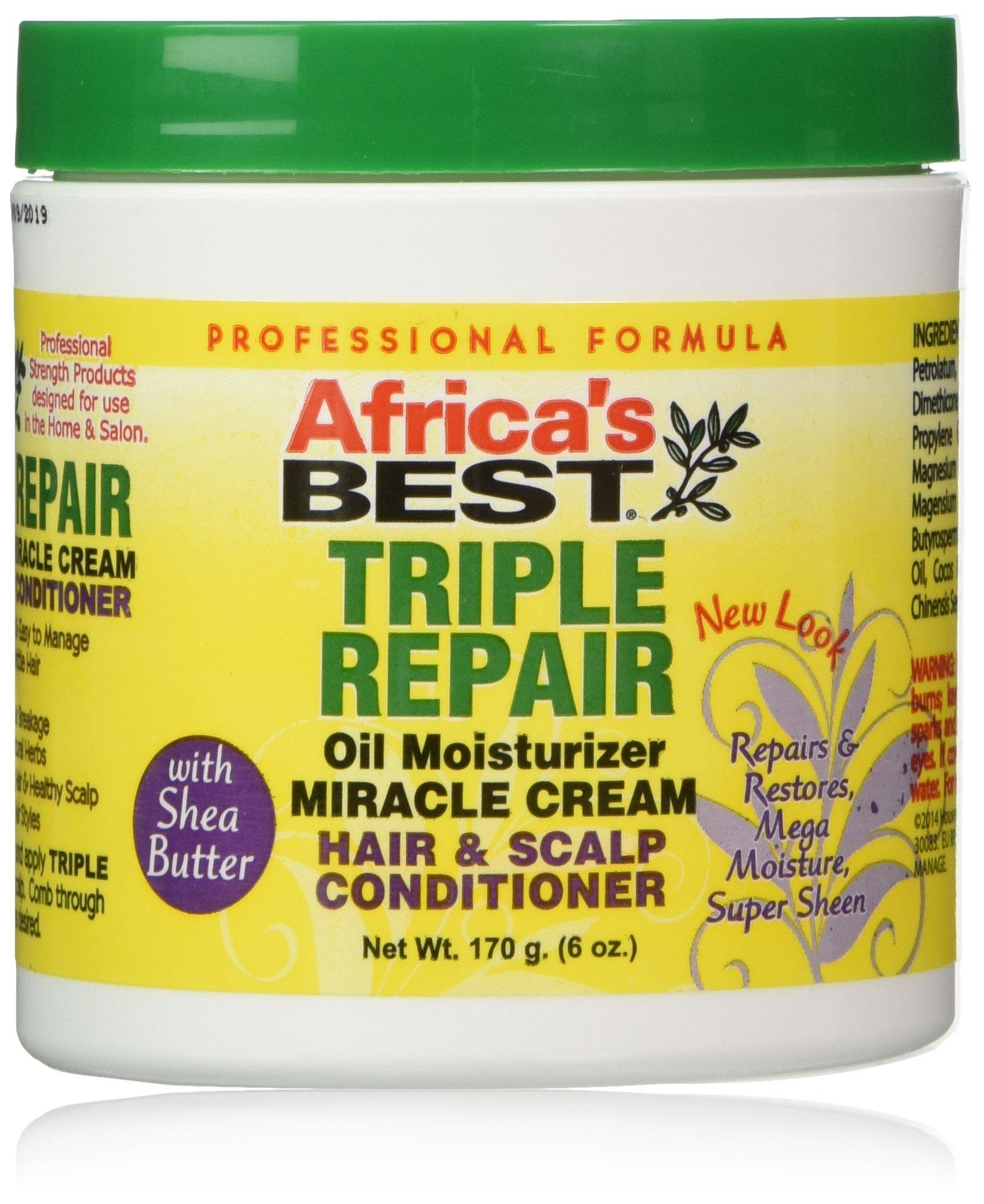 Africa,s Best Triple Repair Oil Moisturizer Cream Hair & Scalp Conditioner 170g