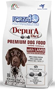 Forza10 Active Depura Daily Life Protection Dry Dog Food, 25 Pounds, Limited Ingredient Gluten Free All Natural Ingredients Omega 6 Vet Recommended Lamb Flavor Dog Food