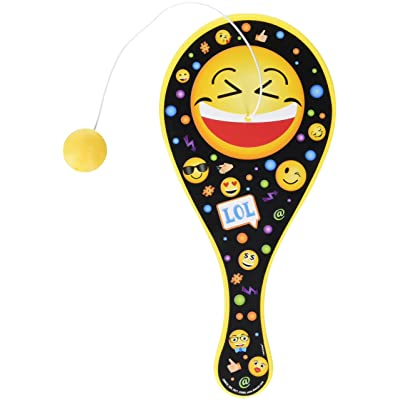"Amscan 398633 Fun-Filled, LOL Paddle Ball, Supplies, Multicolor, 8 3/4"" x 4"" Party Favors, One Size: Kitchen & Dining"