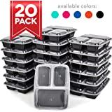 Dash DMPS203GBMT06 Healthy Prep Food Storage, 3 compartments 20 Pack Black