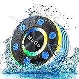 MuGo Bluetooth Shower Speaker, IPX7 Waterproof Bluetooth Speaker with Suction Cup, Wireless Portable Shower Speaker Handsfree