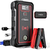 YABER Car Jump Starter, 2500A Peak 23800mAh Car Battery Jump Starter(All Gas or 8.0L Diesel) Portable Wireless Charger with L