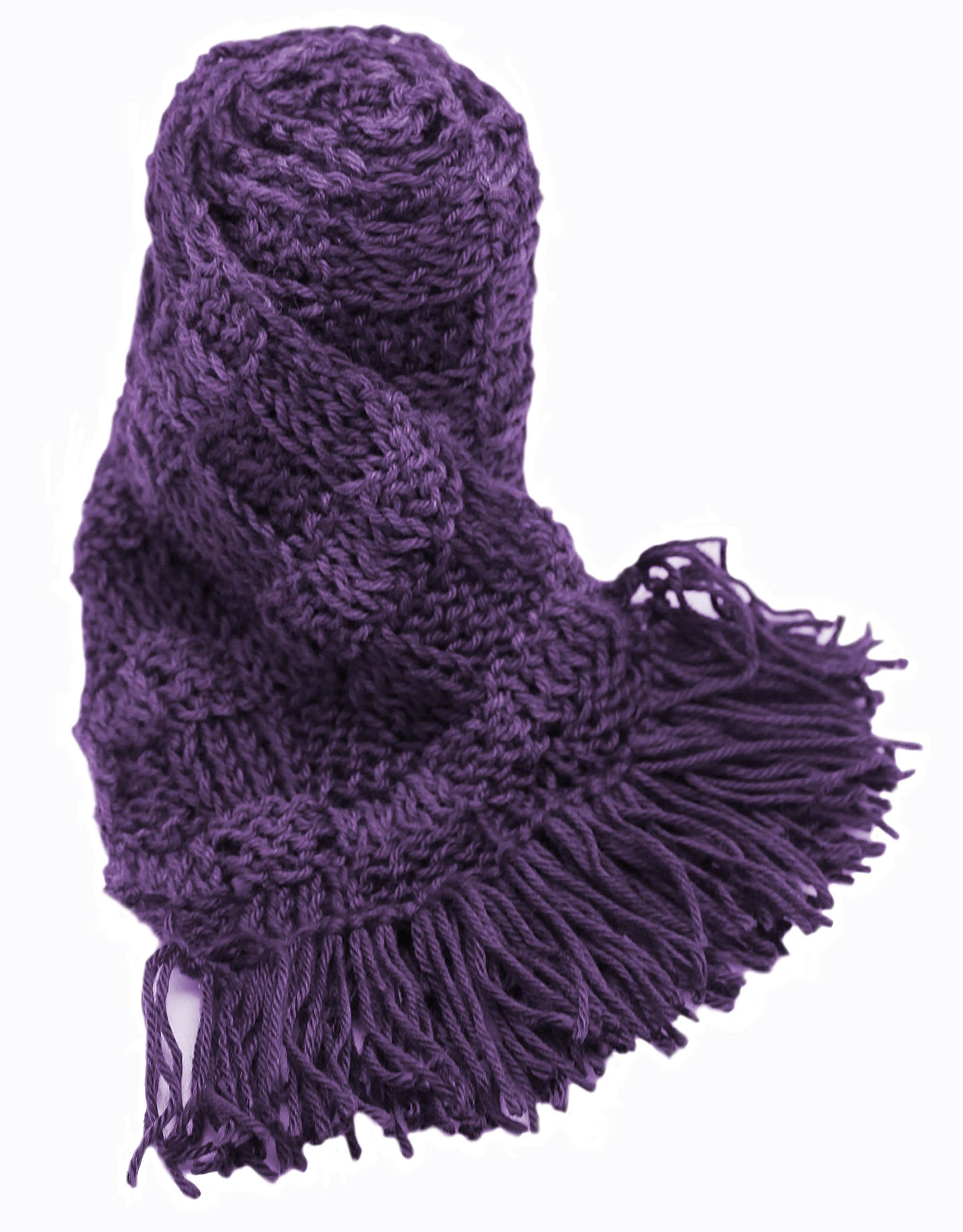 Handmade ALPACA Scarf - Purple and Lavender (CUSTOM MADE ORDER)
