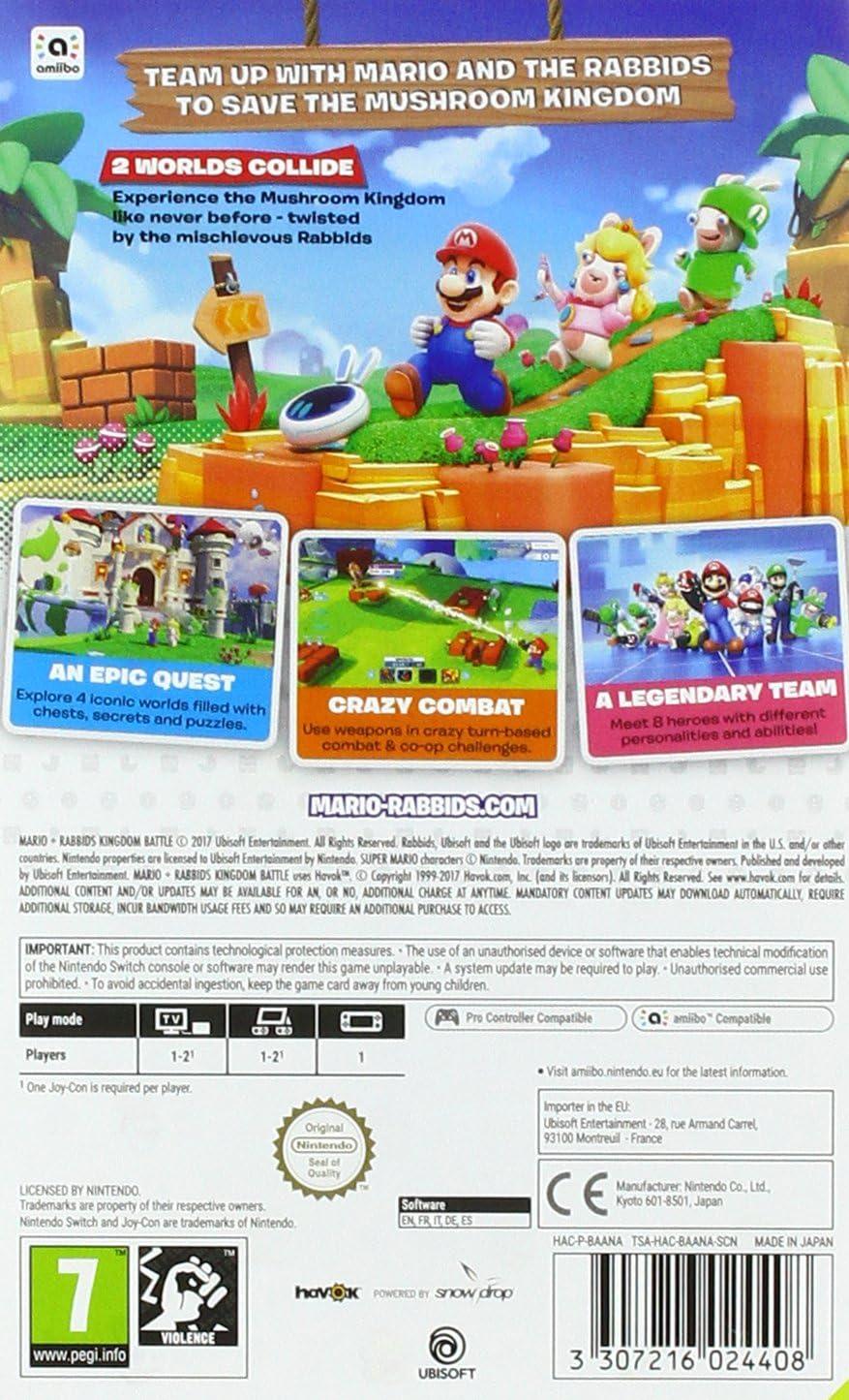 Mario + Rabbids Kingdom Battle - Nintendo Switch [Importación ...